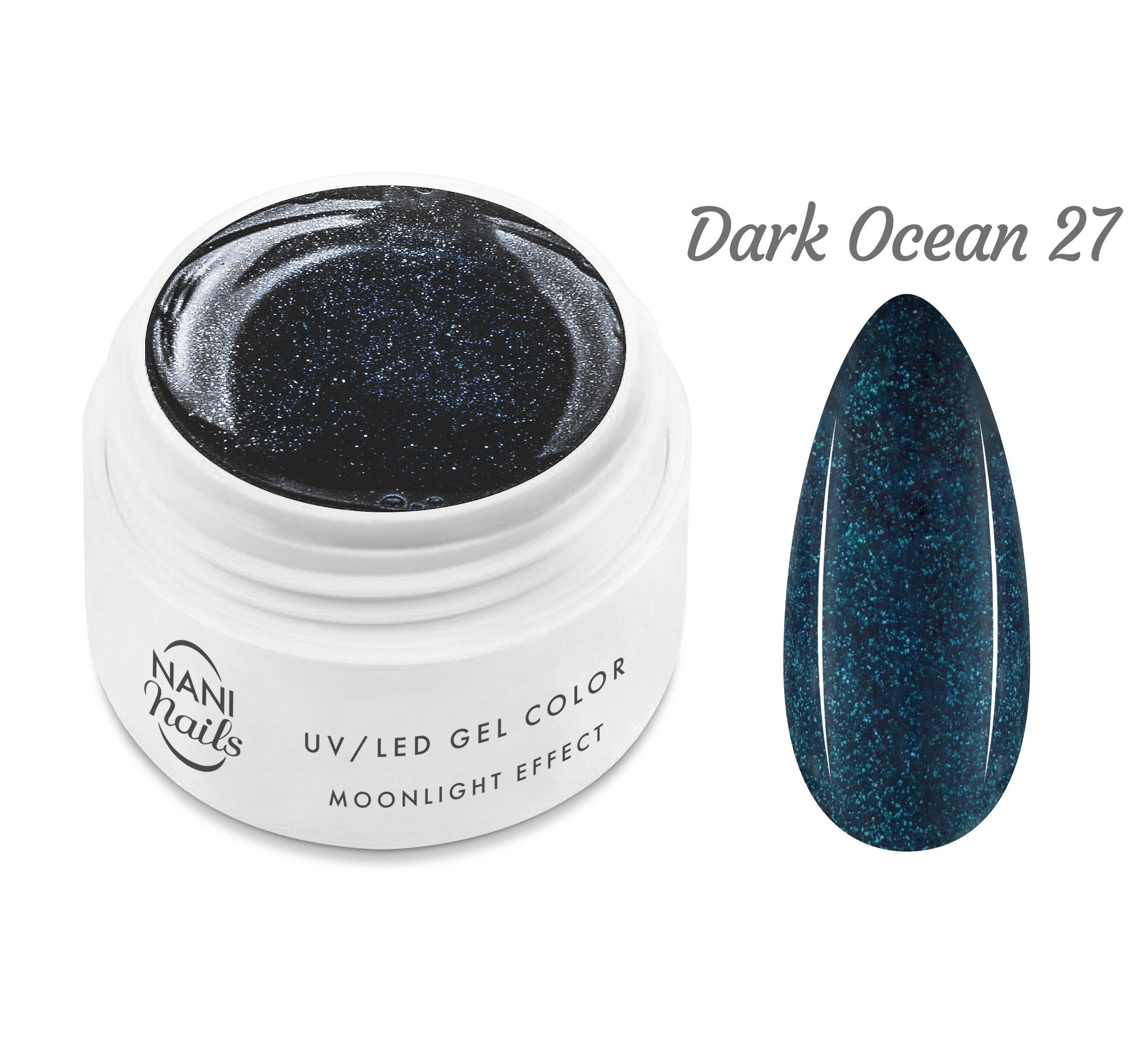 NANI UV gél Moonlight Effect 5 ml - Dark Ocean