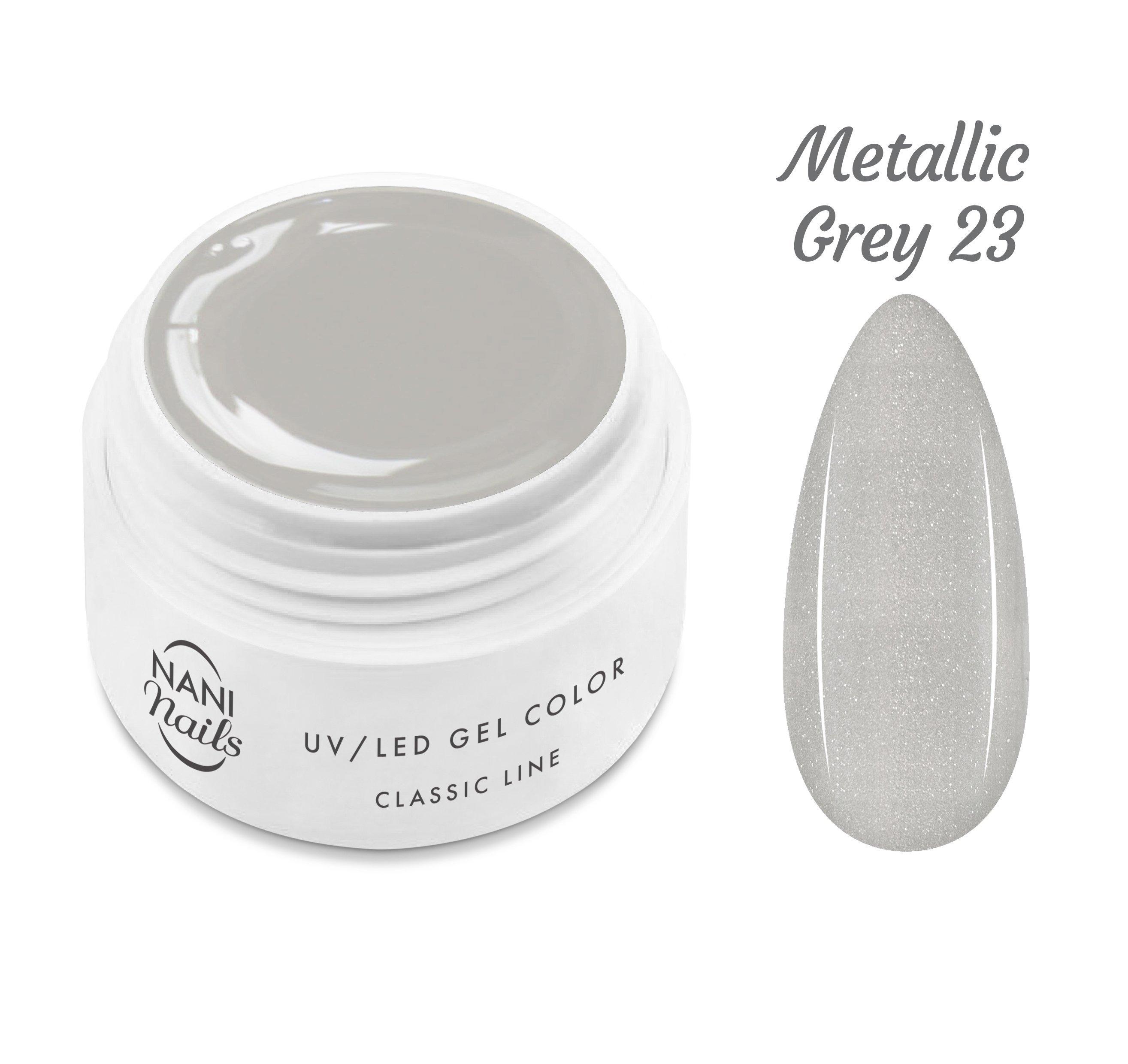 NANI UV gél Classic Line 5 ml - Metallic Grey
