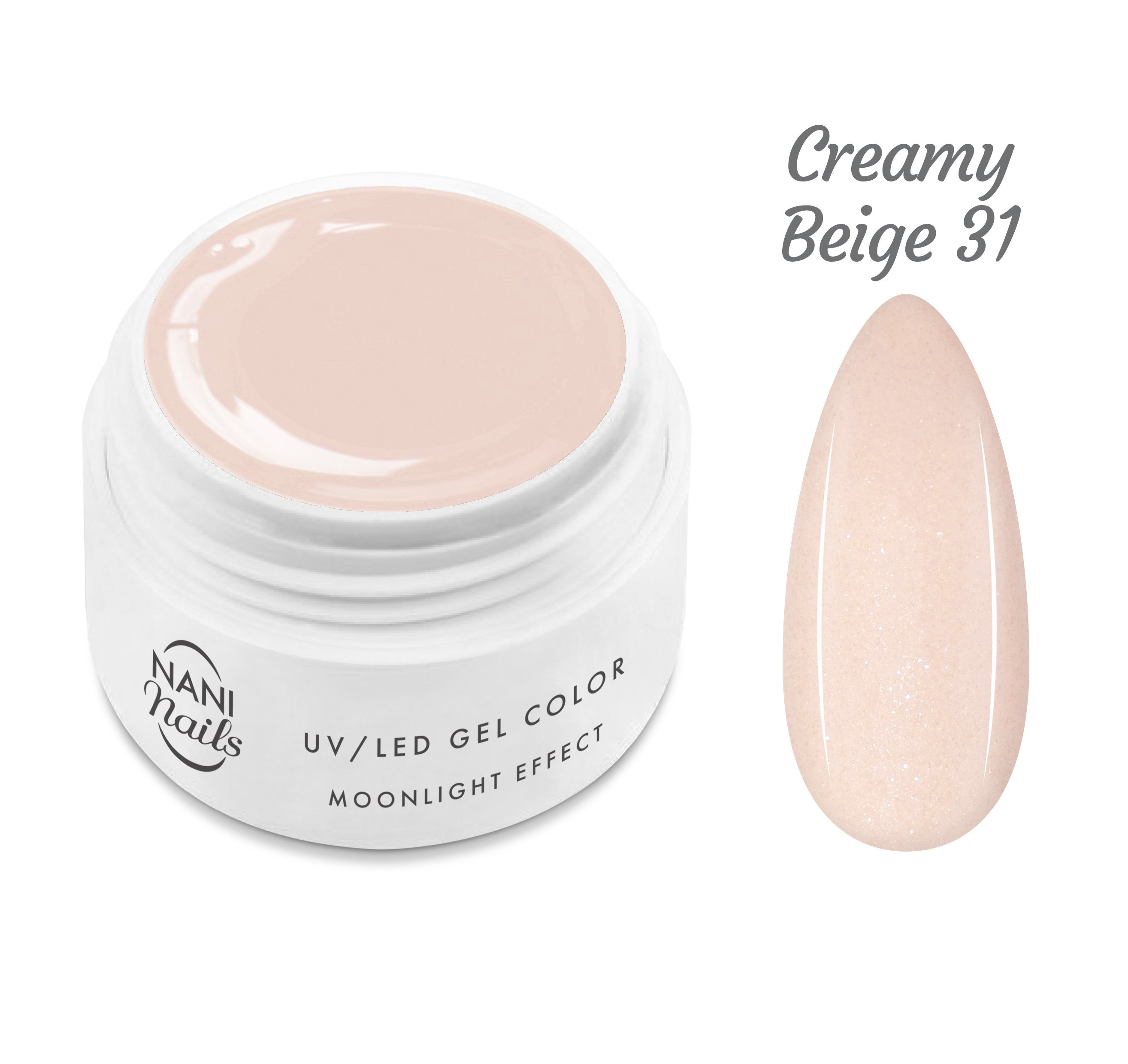 NANI UV gél Moonlight Effect 5 ml - Creamy Beige