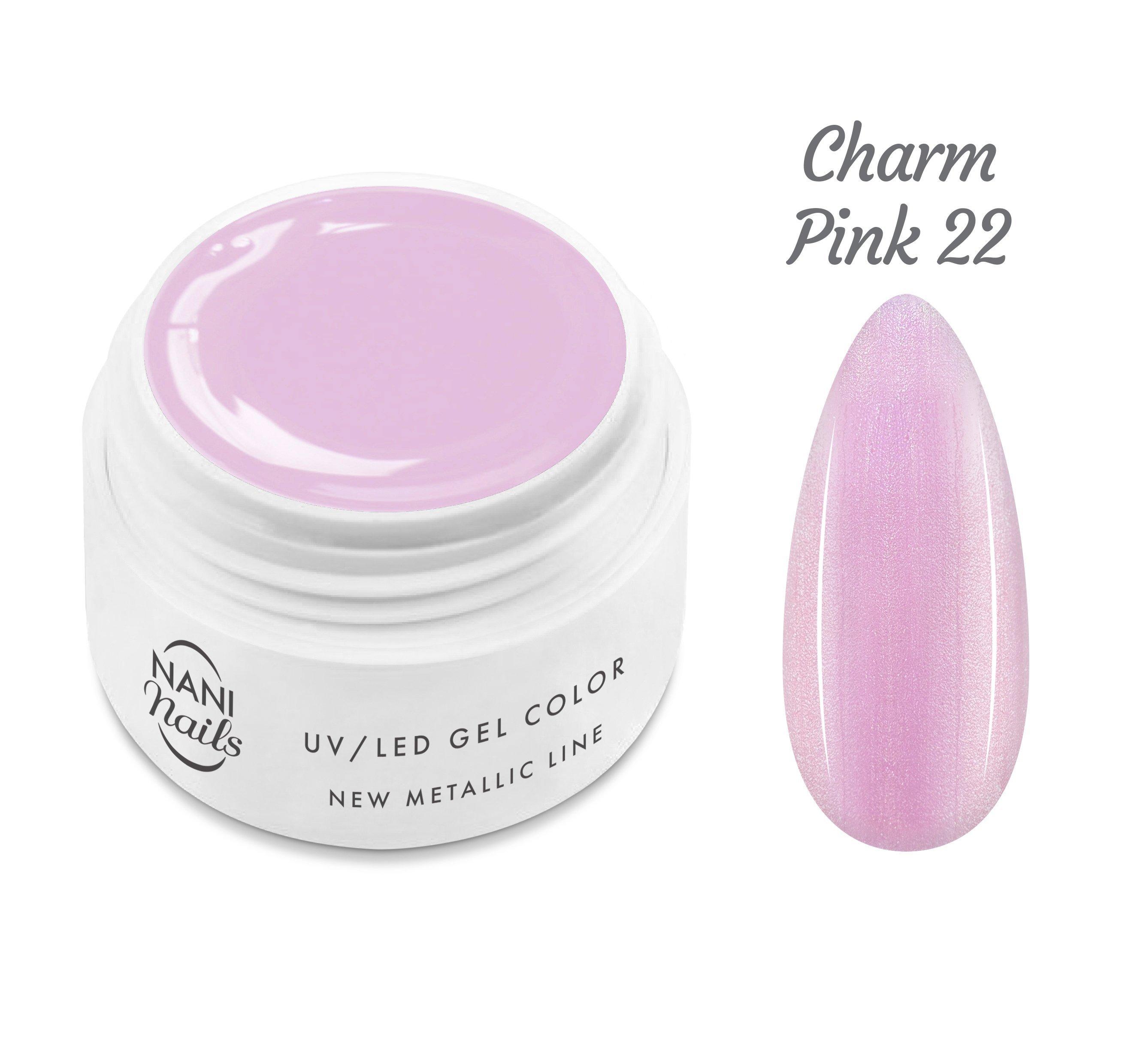 NANI UV gél New Metallic Line 5 ml - Charm Pink