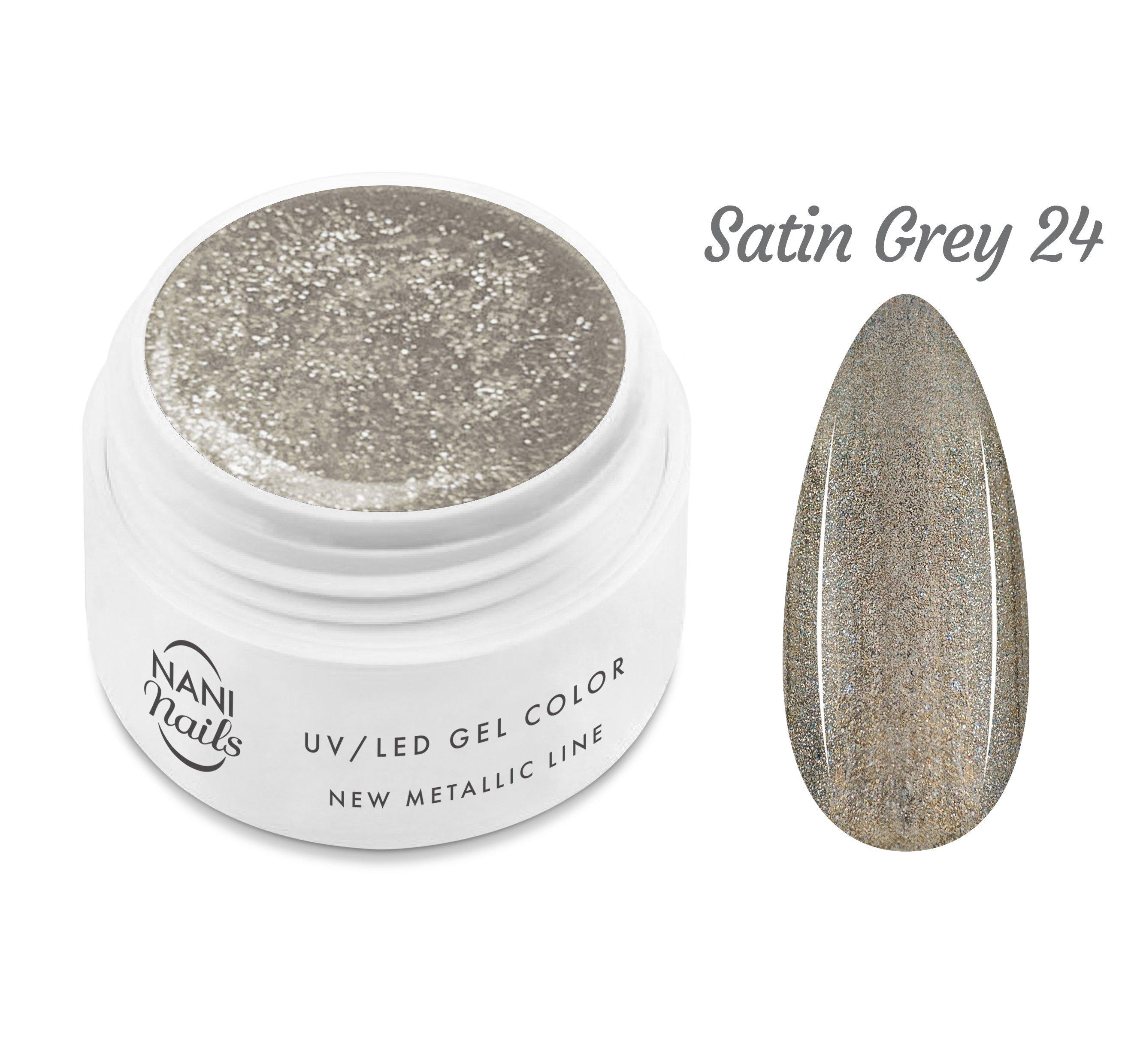 NANI UV gél New Metallic Line 5 ml - Satin Grey