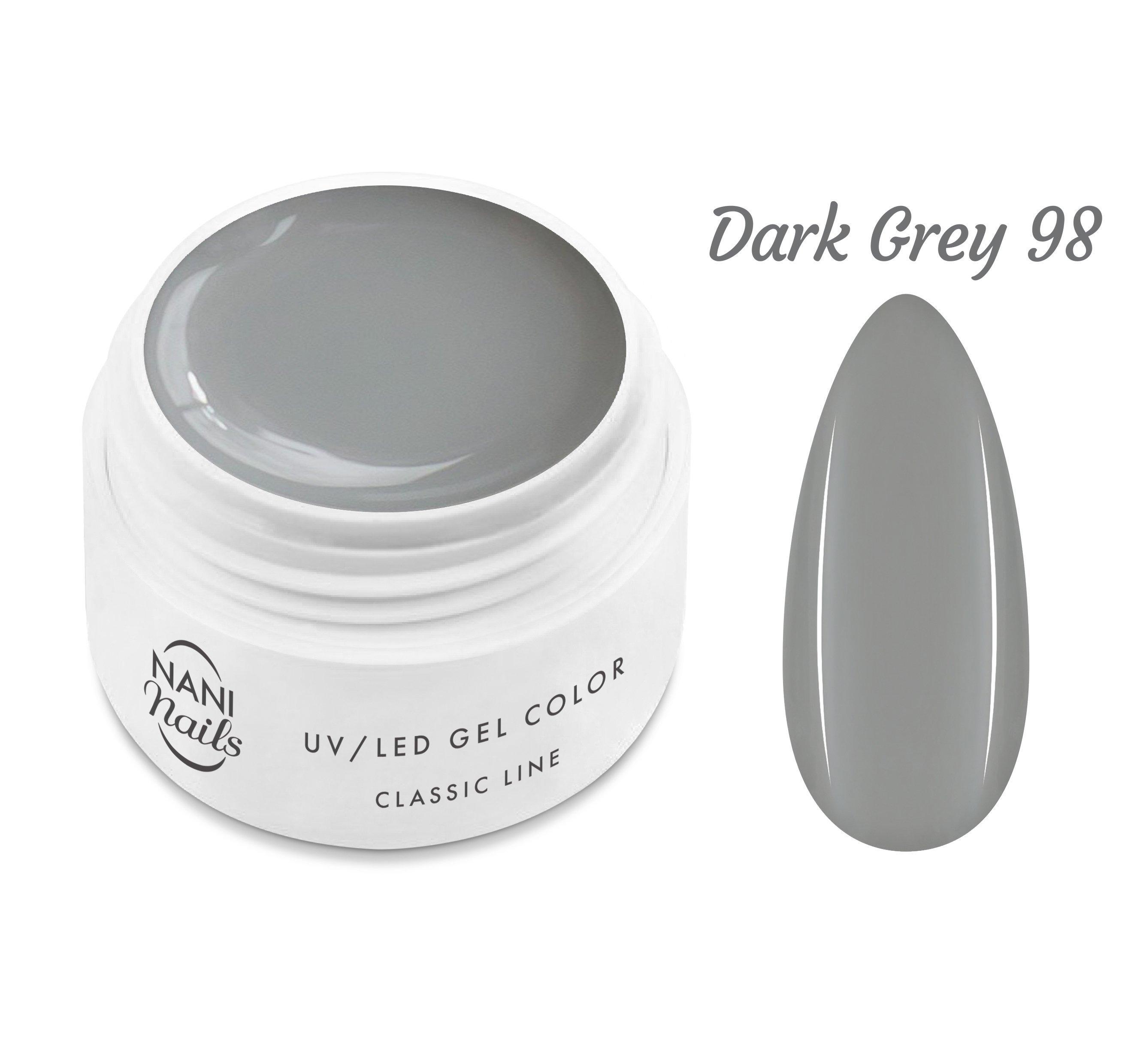NANI UV gél Classic Line 5 ml - Dark Grey