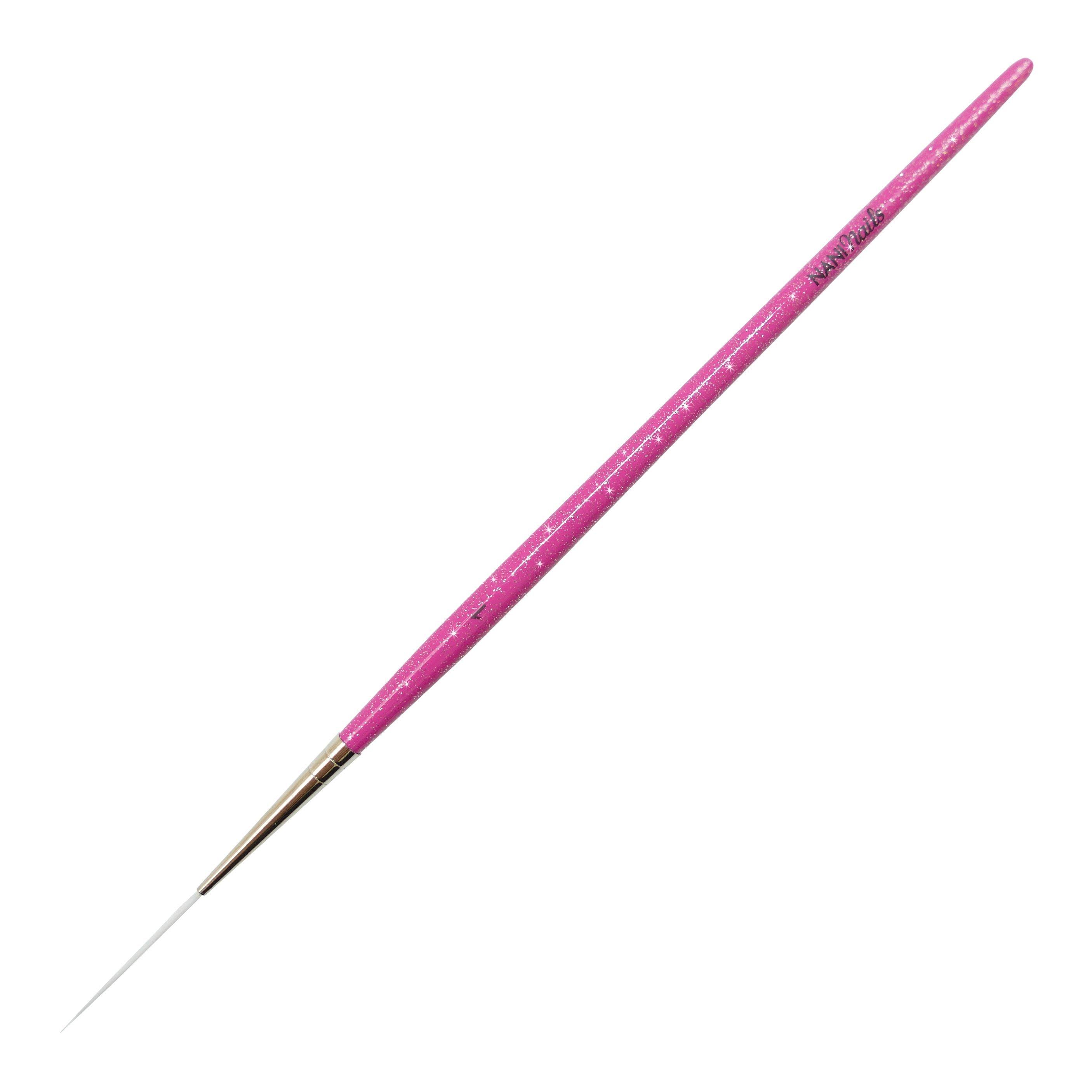 NANI zdobiaci štetec, veľ. 1 - Glitter Pink