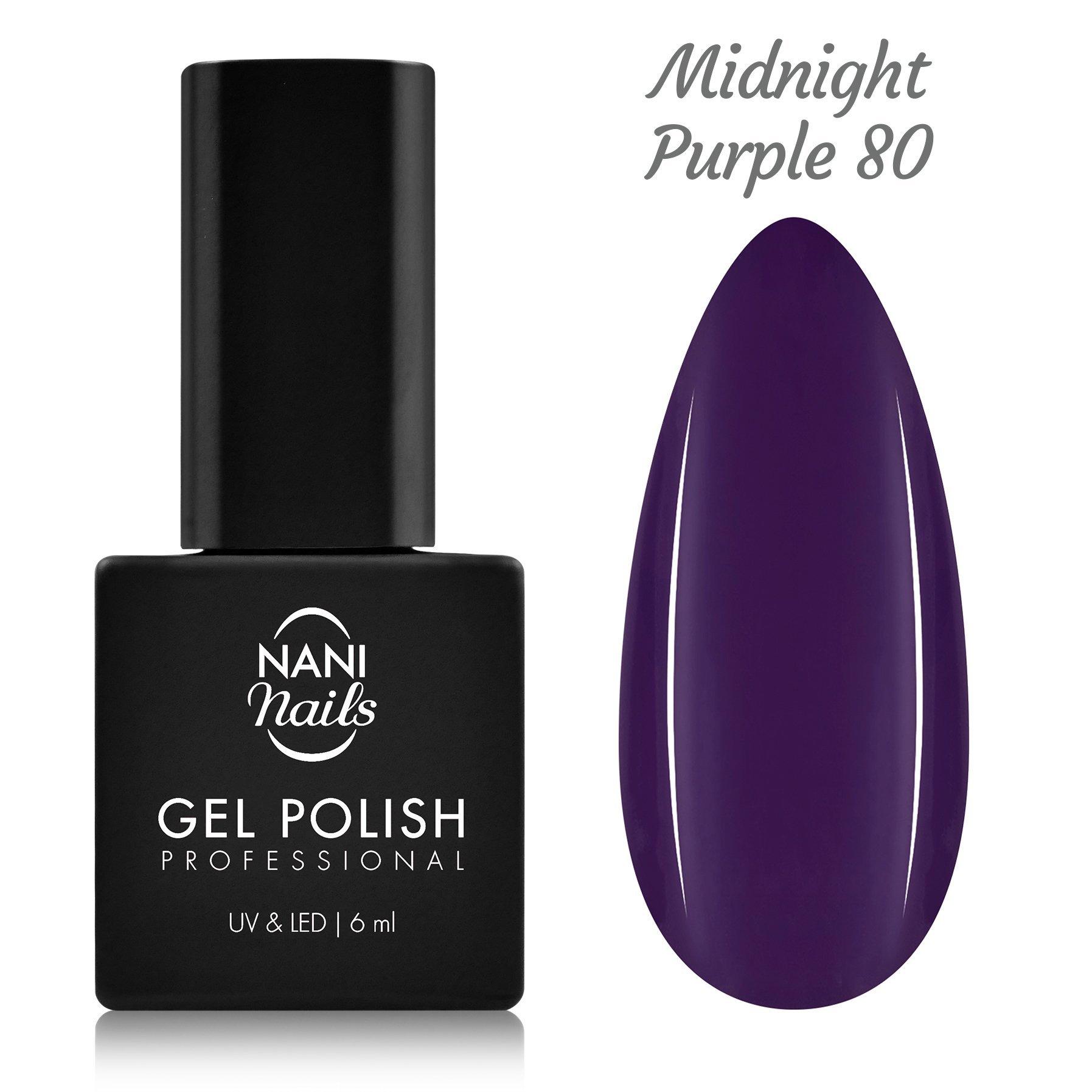 NANI gél lak 6 ml - Midnight Purple