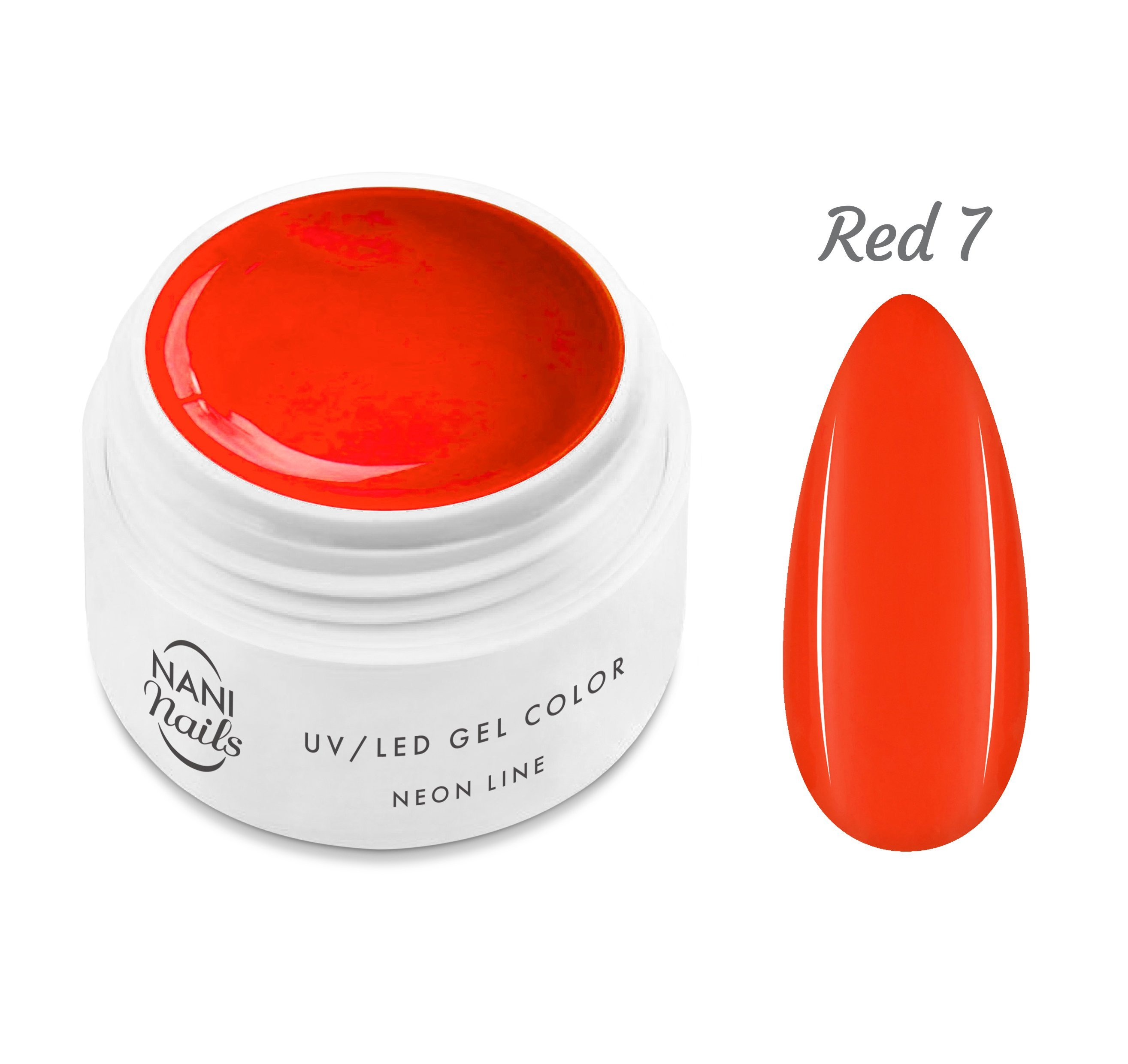 NANI UV gél Neon Line 5 ml - Red